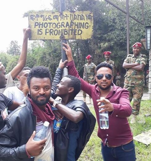 photograph is prohabited - The best message on Saturday's people demonstration to support Dr Abiy Ahemed